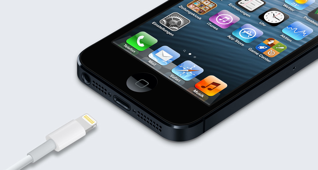 iPhone 5 mit Ligthning Connector